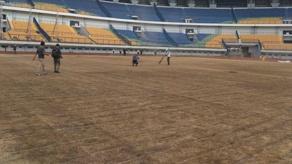 25 Persen Rumput Lapangan Stadion GBLA yang Rusak  akan Diganti