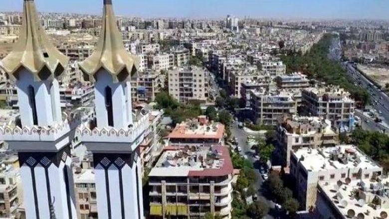 Foto: Pemandangan Kota Aleppo dari ketinggian (Syrian Ministry of Tourism/Facebook)