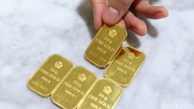 ANTM Turun Rp 5.000, Harga Emas Sekarang Rp 604.000/Gram