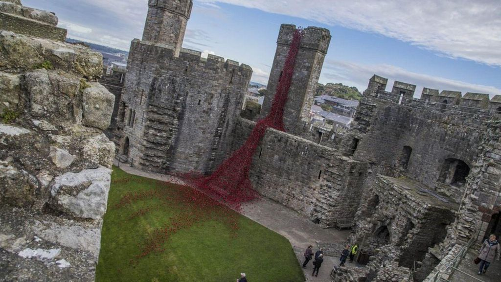 Kastil yang Sedang Berdarah di Wales