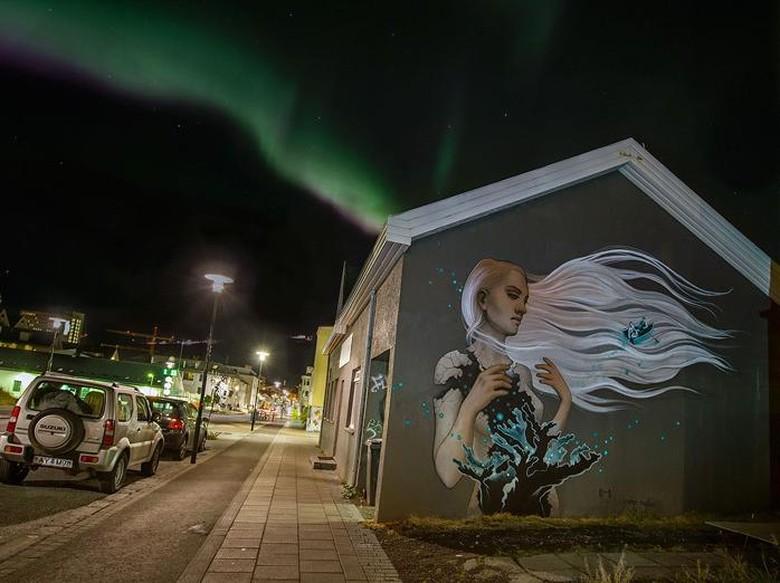 Intip mural mural cantik di reykjavik for Mural yang cantik