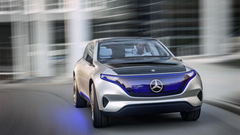 Bentuk Tampilan Mobil listrik dari Mercedes-Benz