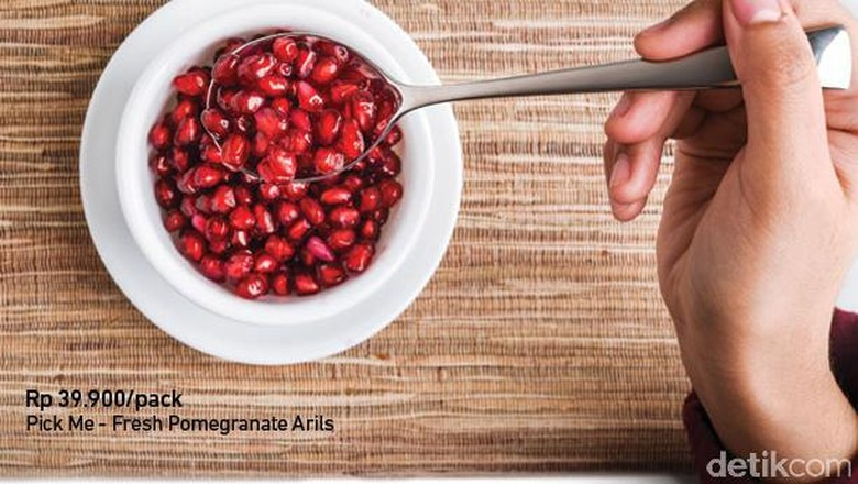 Pomegranate Segar Siap Makan di Transmart Carrefour