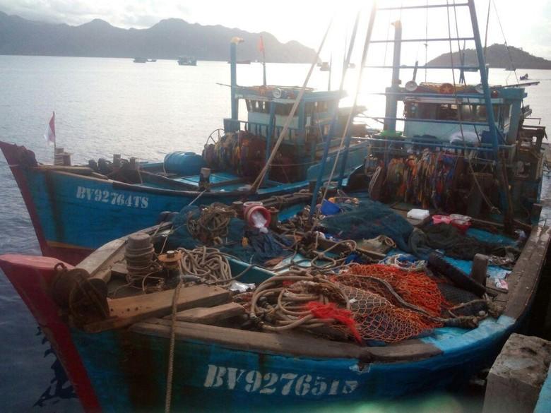 Gunakan Pukat Harimau, 2 Kapal Ikan Vietnam Ditangkap di Natuna