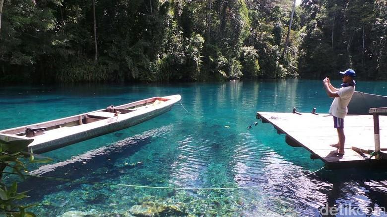 Danau Labuan Cermin di Kaltim (Septi/detikTravel)