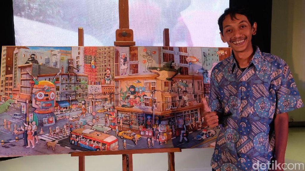 Gatot Indrajati Bikin Lukisan 3D Terinspirasi dari Serangan Bom di Sarinah