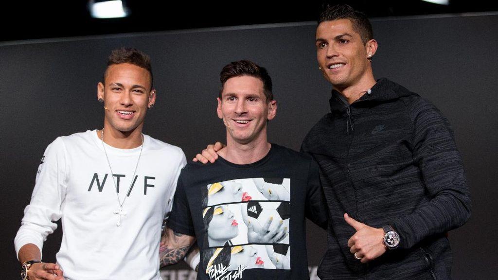 Neymar Tak Nyaman Dibanding-bandingkan dengan Messi dan Ronaldo