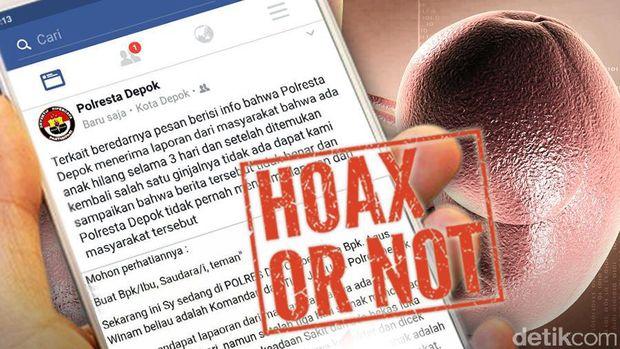Kabar Anak-anak Diculik Lalu Diambil Ginjalnya di Depok