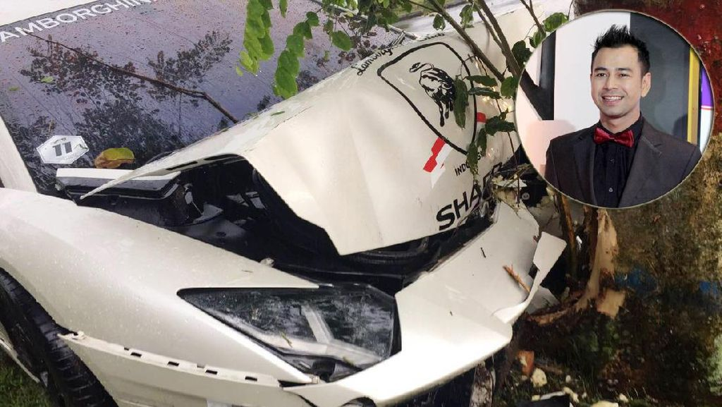 Raffi Ahmad Sudah Punya Ganti Lamborghini yang Rusak karena Kecelakaan