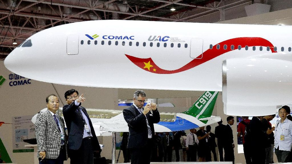 Penampakan Model Pesawat Saingan Boeing dan Airbus yang Dirancang China-Rusia