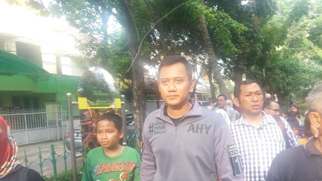 Agus Cek Taman Bermain di Jakbar: Jakarta Butuh Lahan Terbuka Hijau