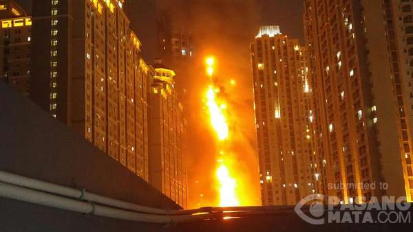 Pengelola Apartemen Neo Soho: Sudah Disisir, Tak Ada Korban Kebakaran