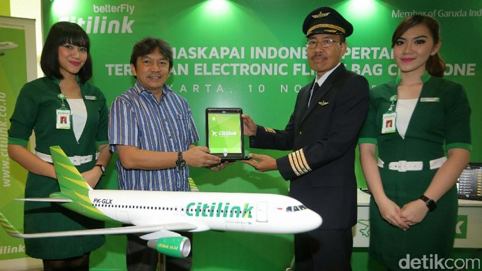 Citilink Terapkan Elektronik Flight Bag di Kokpit