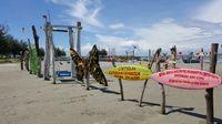 Pantai ini punya banyak spot untuk foto selfie (Fitraya/detikTravel)