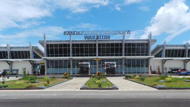 Ilustrasi Bandara Matohara di Wakatobi (Bona/detikTravel)