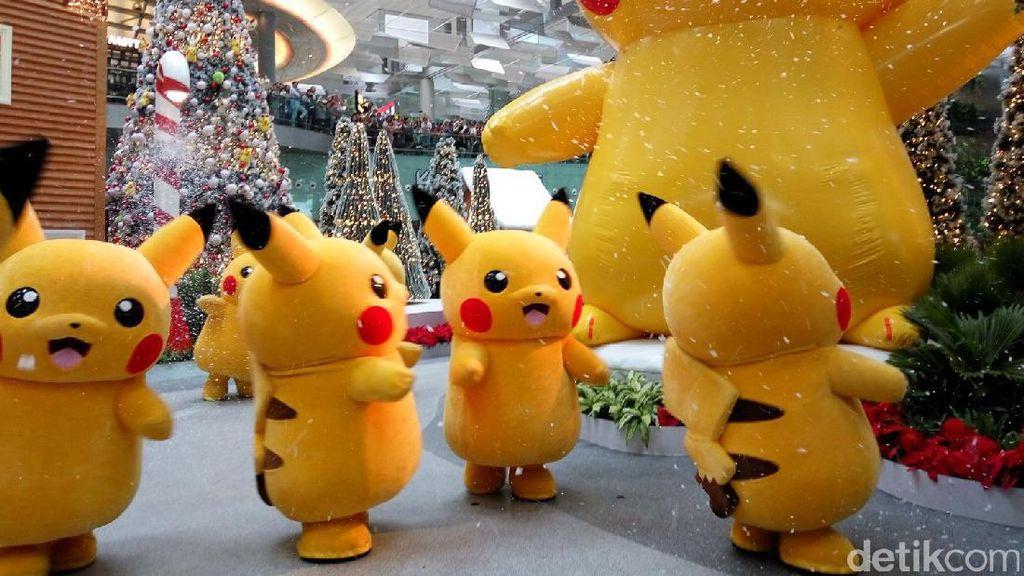 Lucu Banget! Parade Pikachu di Bandara Changi Singapura