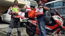 Kampanye Kemanusiaan, Relawan PMI Ini Touring Ribuan Kilometer dari Bandung Ke Aceh