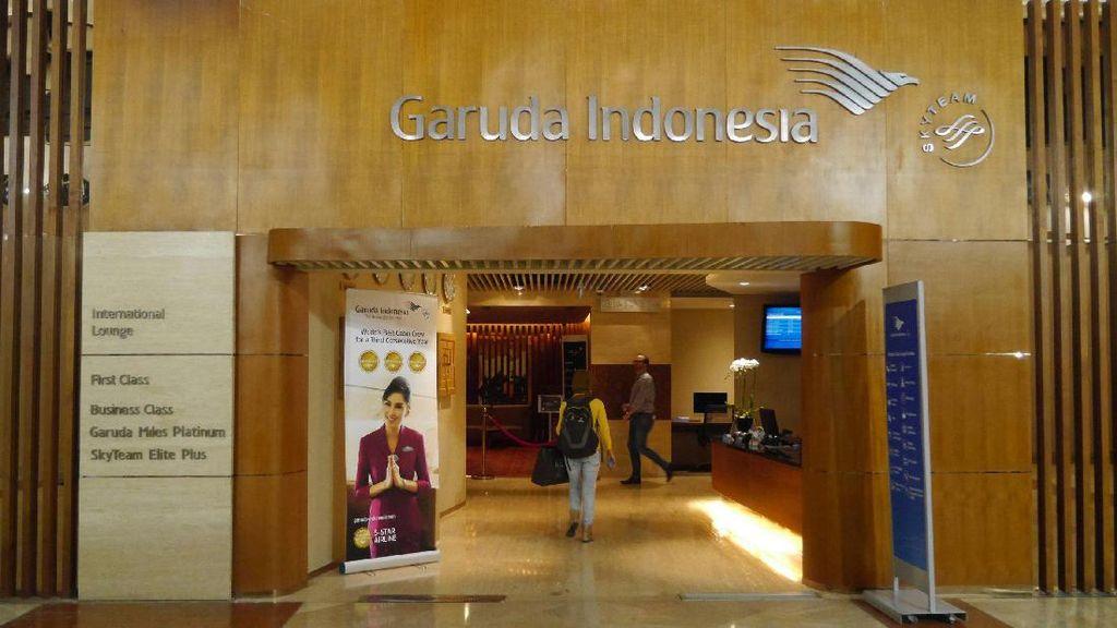 Lounge First Class Garuda Indonesia, Mewah Banget