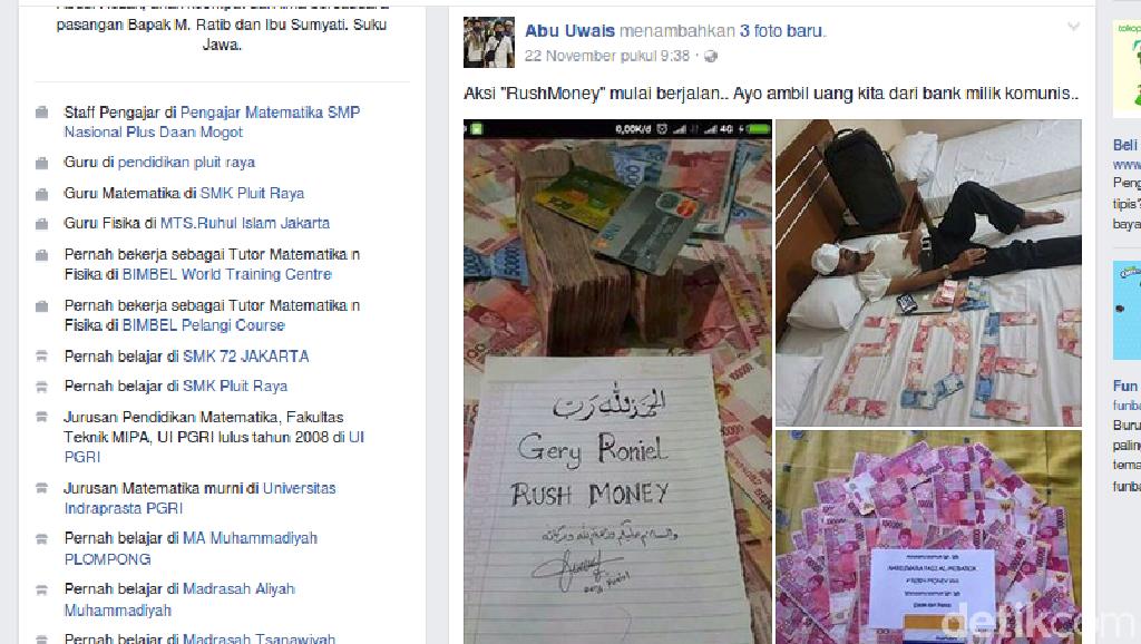 Bareskrim: Tersangka Rush Money Pamer Uang SPP Siswa di Facebook