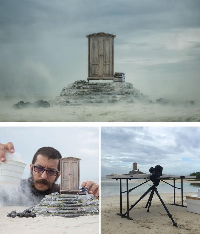 Salah satunya adalah karya fotografer Felix Hernandez Rodriguez. Ia menggunakan fotografi aliran surealisme dengan menggunakan objek miniatur, jika tidak melihat prosesnya, pasti mengira ini ada foto sungguhan. (Foto:Felix Hernandez Rodriguez)