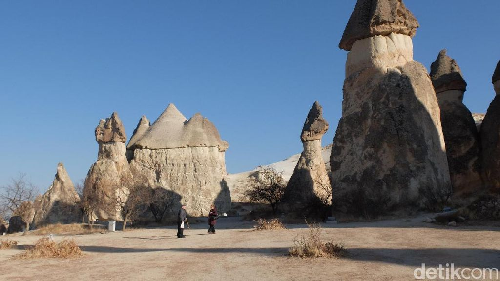 Potret Batu Unik Berbentuk Jamur & Unta di Turki