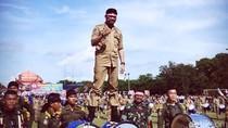 Bupati Gowa Bergaya ala Pejuang Kemerdekaan di Upacara Nusantara Bersatu