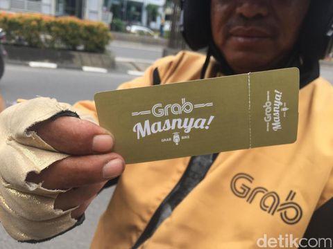 Grab Masnya, salah satu kampanye promosi Grab