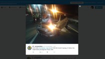 Mobil Tabrak Truk di Tol Jagorawi KM 04, Pengemudi Dibawa ke RS Polri