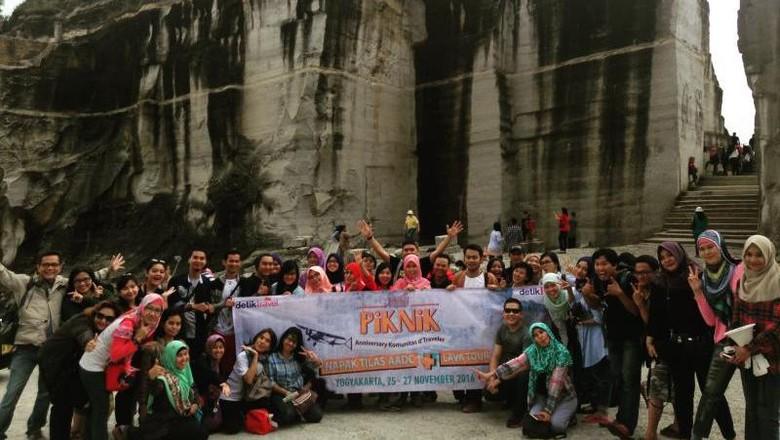 Para peserta PIKNIK di Tebing Breksi (Endah Marina/dTraveler)