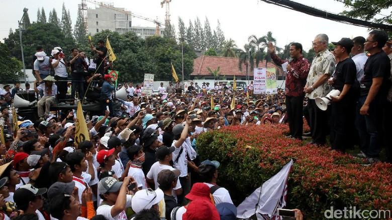 Mendag dan Mentan Temui Demo Petani