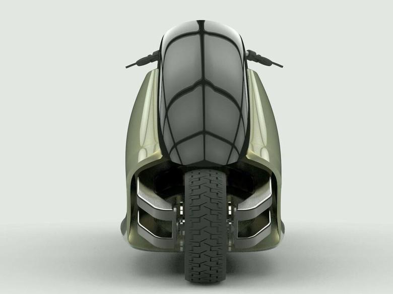 Tak Perlu Turunkan Kaki, Motor Ini Bisa Tegak Sendiri