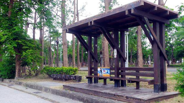 Shelter untuk duduk-duduk traveler (Wahyu/detikTravel)