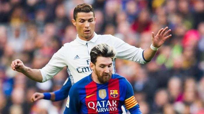 Ronaldo vs Messi (Foto: Alex Caparros/Getty Images)