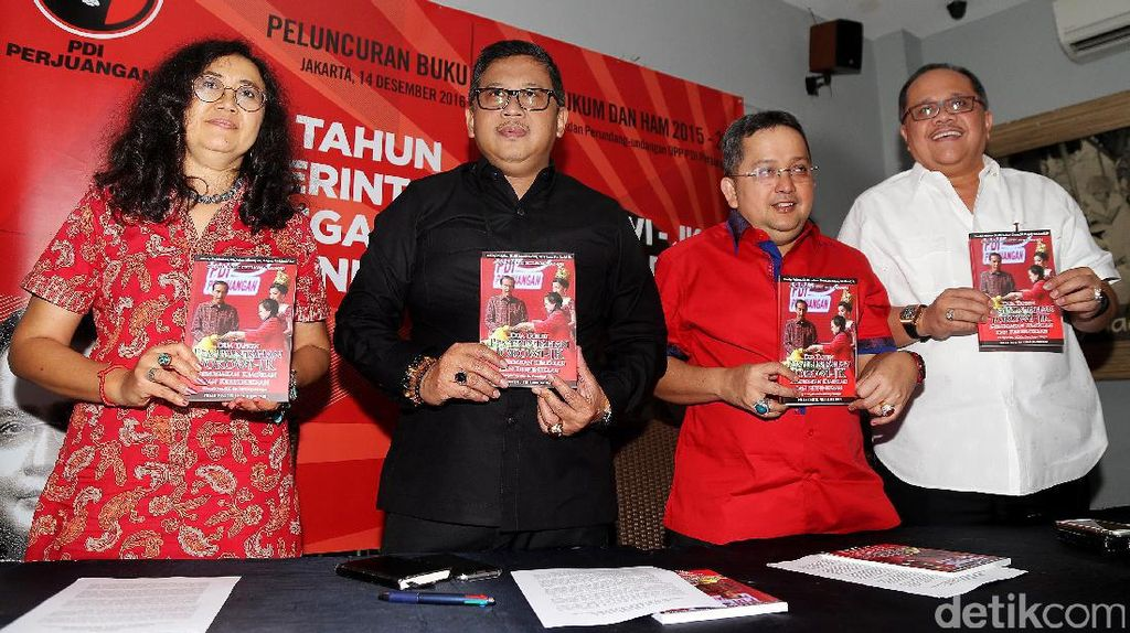 PDIP Luncurkan Buku 2 Tahun Jokowi-JK Soal Hukum dan HAM