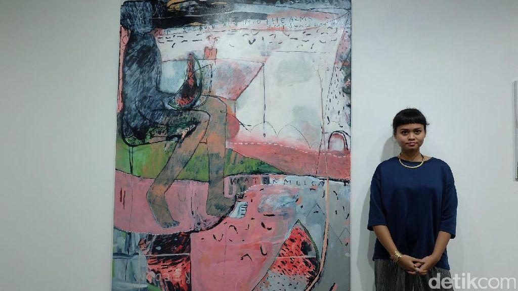 Dialog Lukisan Abstrak Figuratif Natisa Jones