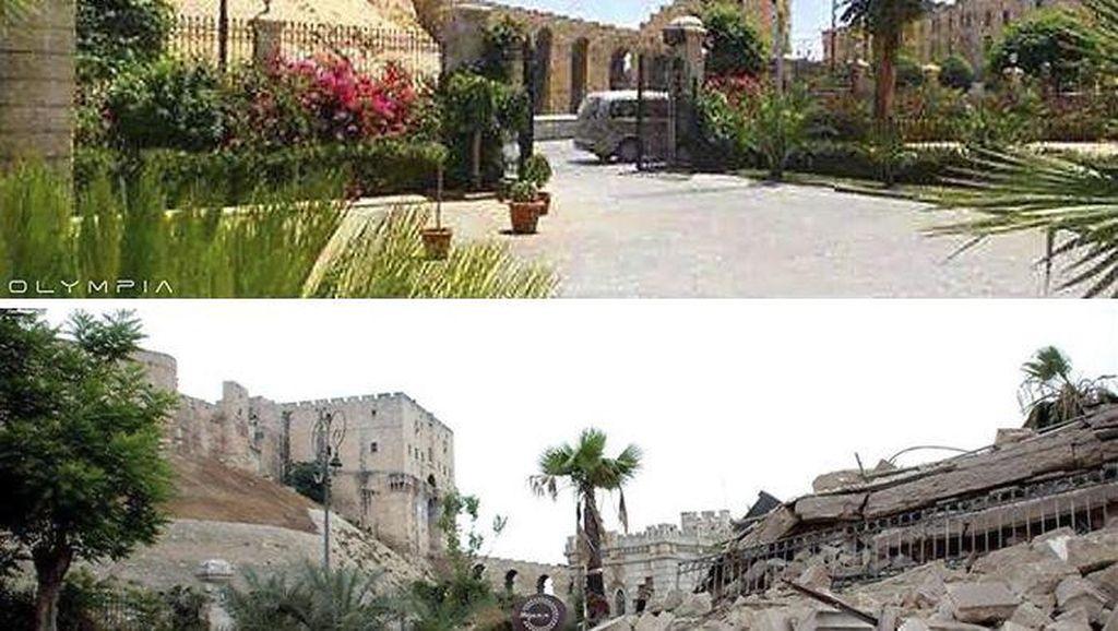 Potret Menyedihkan Aleppo, Sebelum dan Sesudah Serangan