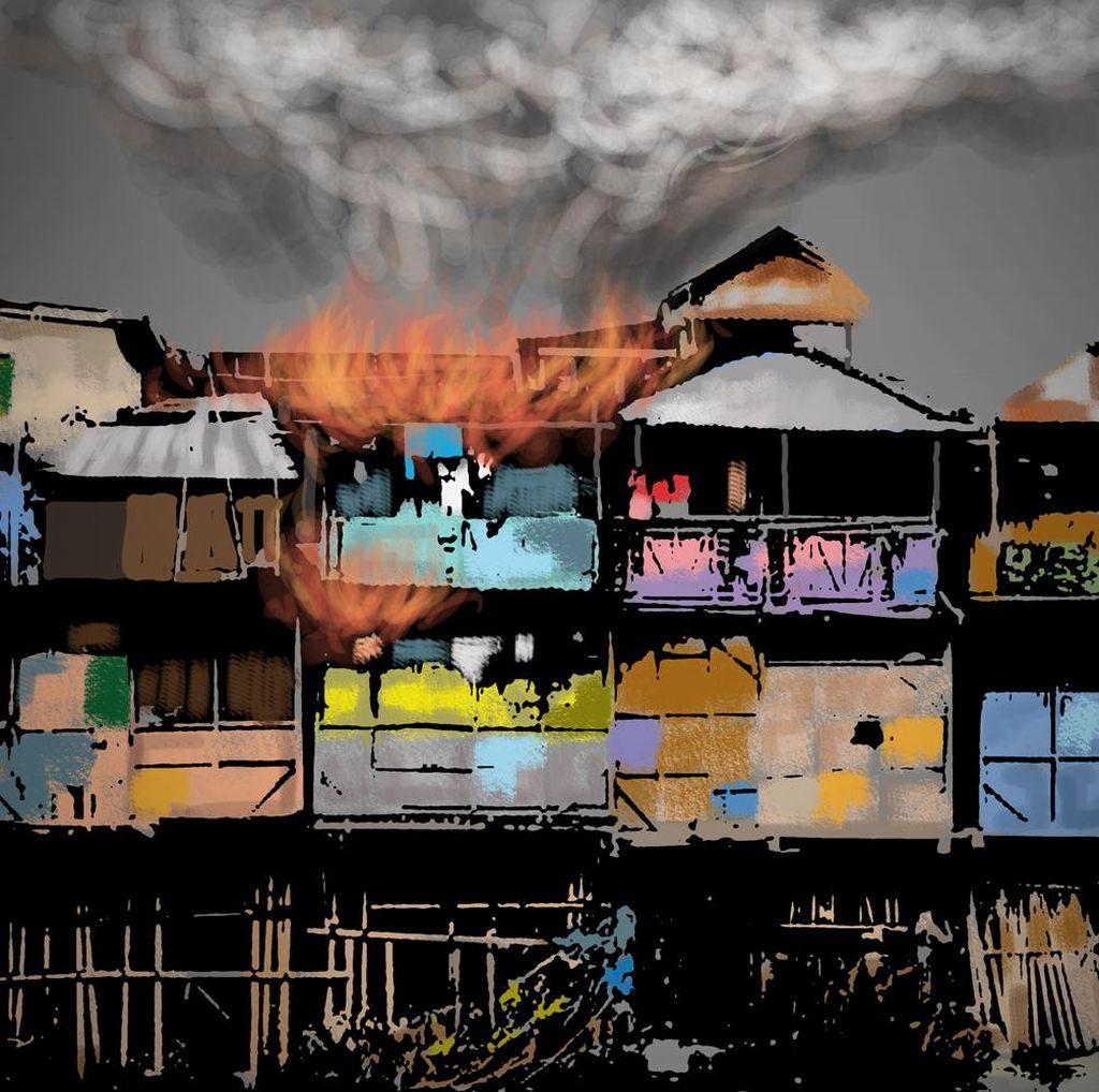 Kebakaran Rumah di Kemayoran, 18 Unit Damkar Meluncur ke TKP