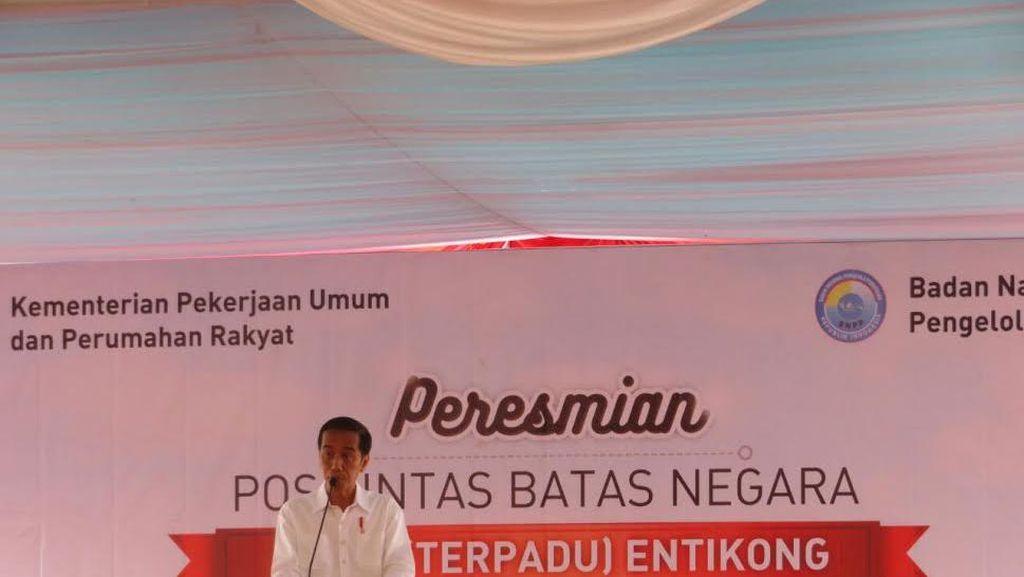 Resmikan Pos Lintas Batas Entikong, Jokowi: Jangan Ada Pungli, Saya Akan Awasi