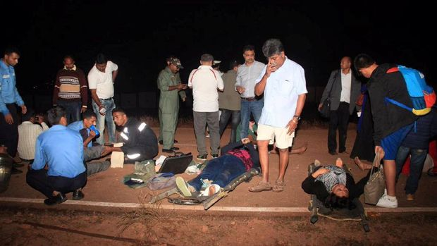 Para korban luka dievakuasi
