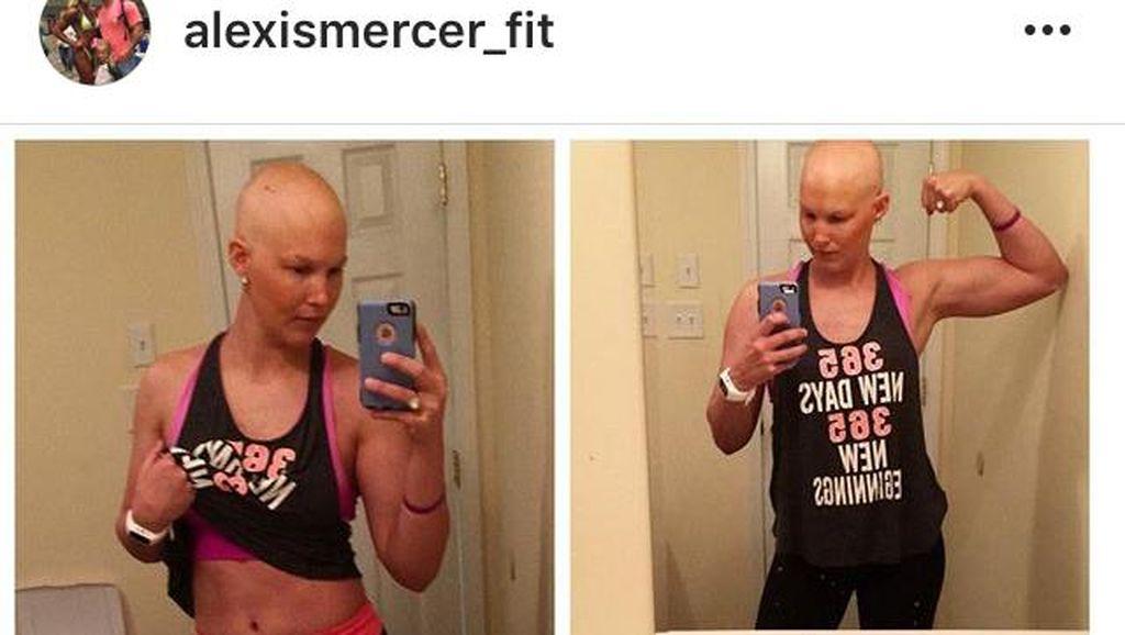 Kena Kanker dan Jalani Kemo Tak Halangi Wanita Ini Lakukan Bodybuilding