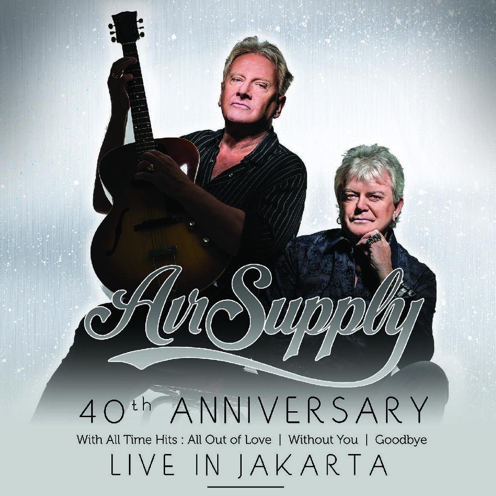 Besok, Air Supply Akan Mendarat di Jakarta Lewat Soekarno Hatta