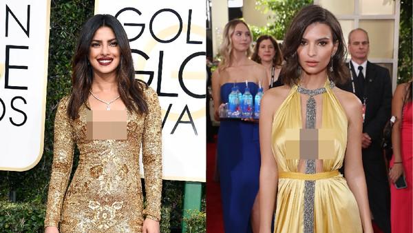 Priyanka Chopra vs Emily Ratajkowski, Siapa Paling Seksi di Red Carpet?