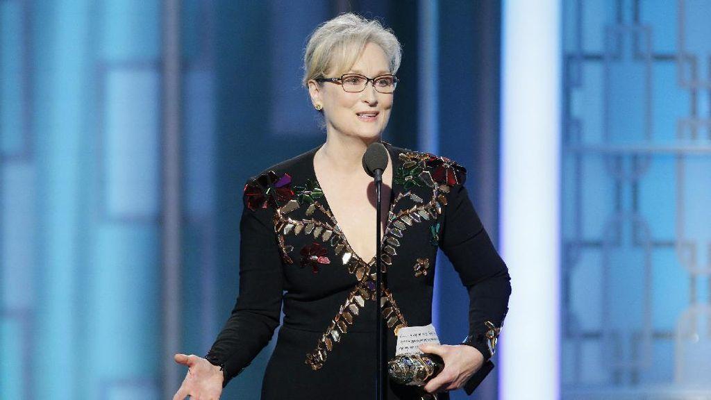 Disindir di Golden Globe, Donald Trump Sebut Meryl Streep Berlebihan
