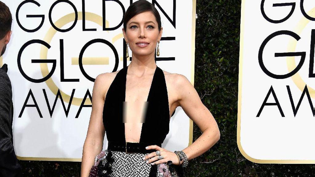 Gaun Seksi Berbelahan Dada Rendah Dominasi Red Carpet Golden Globes