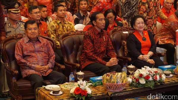 Bersama Megawati, Jokowi dan JK Hadiri HUT Ke-44 PDIP