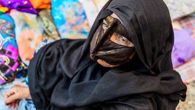 Potret wanita bertopeng di Iran (BBC)