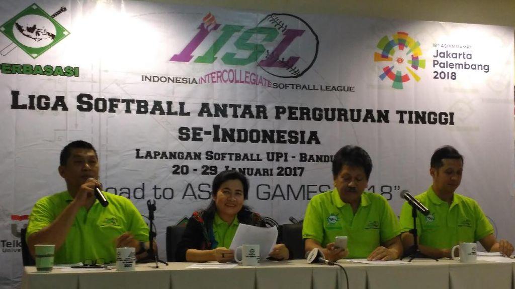 Perbasasi Seleksi Timnas Asian Games 2018  Lewat Liga Softball Mahasiswa