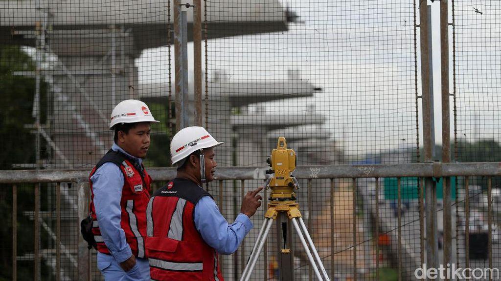 Serap Rp 3,3 T, Pembangunan LRT Jabodebek Capai 15%