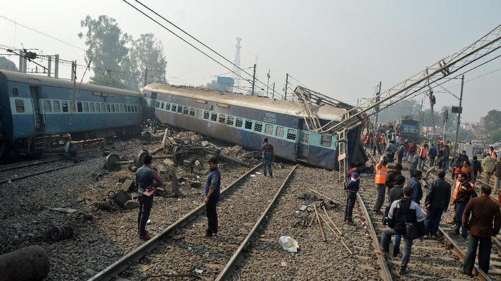 Kecelakaan Kereta di India, 23 Orang Tewas dan 100 Terluka