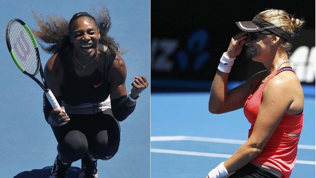 Bahagianya Serena dan Mirjana Lucic-Baroni